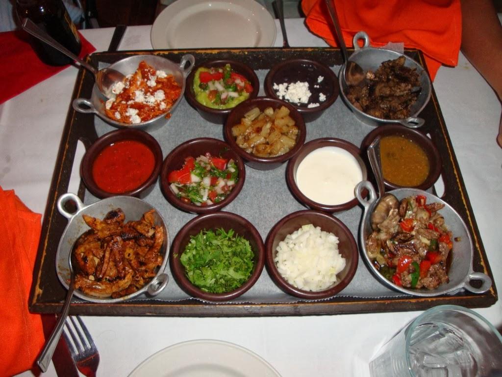 Bandeja de selección de tacos