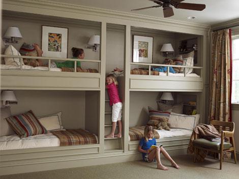 sophisticating: design obsession: built-in bunk beds