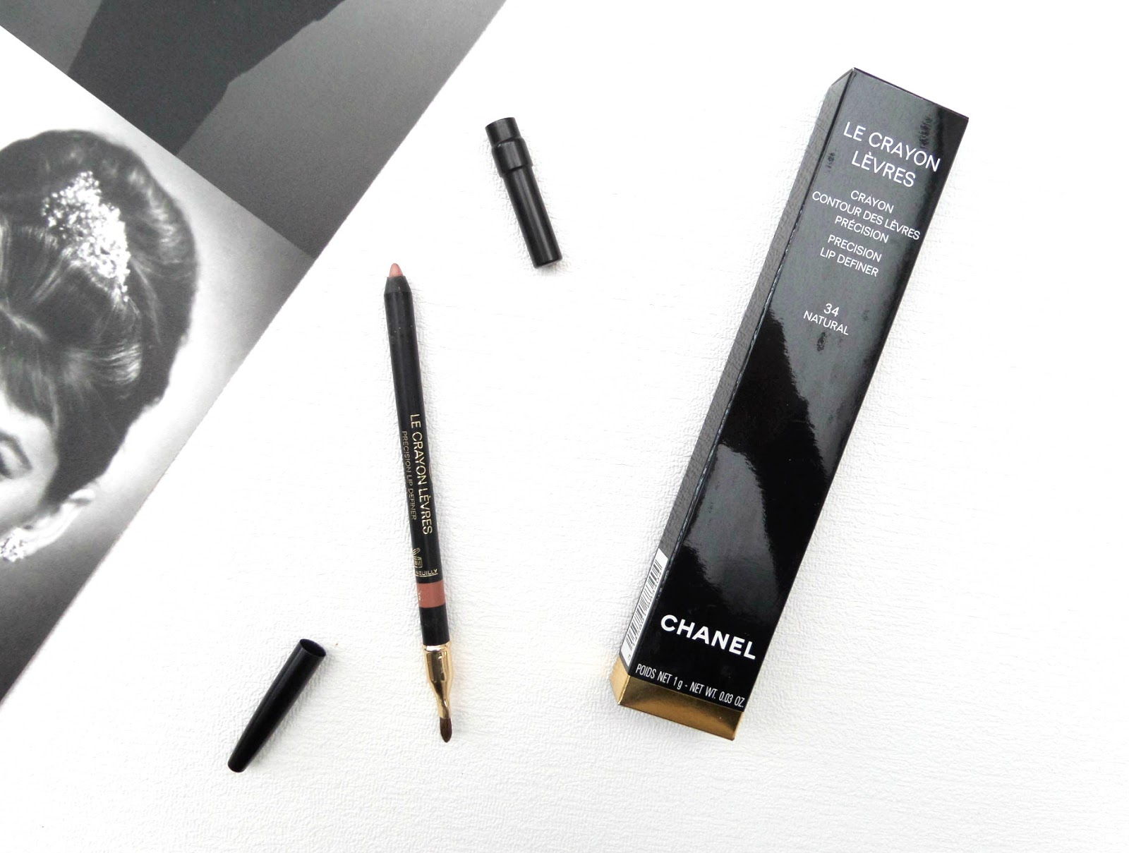 The Chanel Le Crayon Levres, the Precision Lip Definer in 34