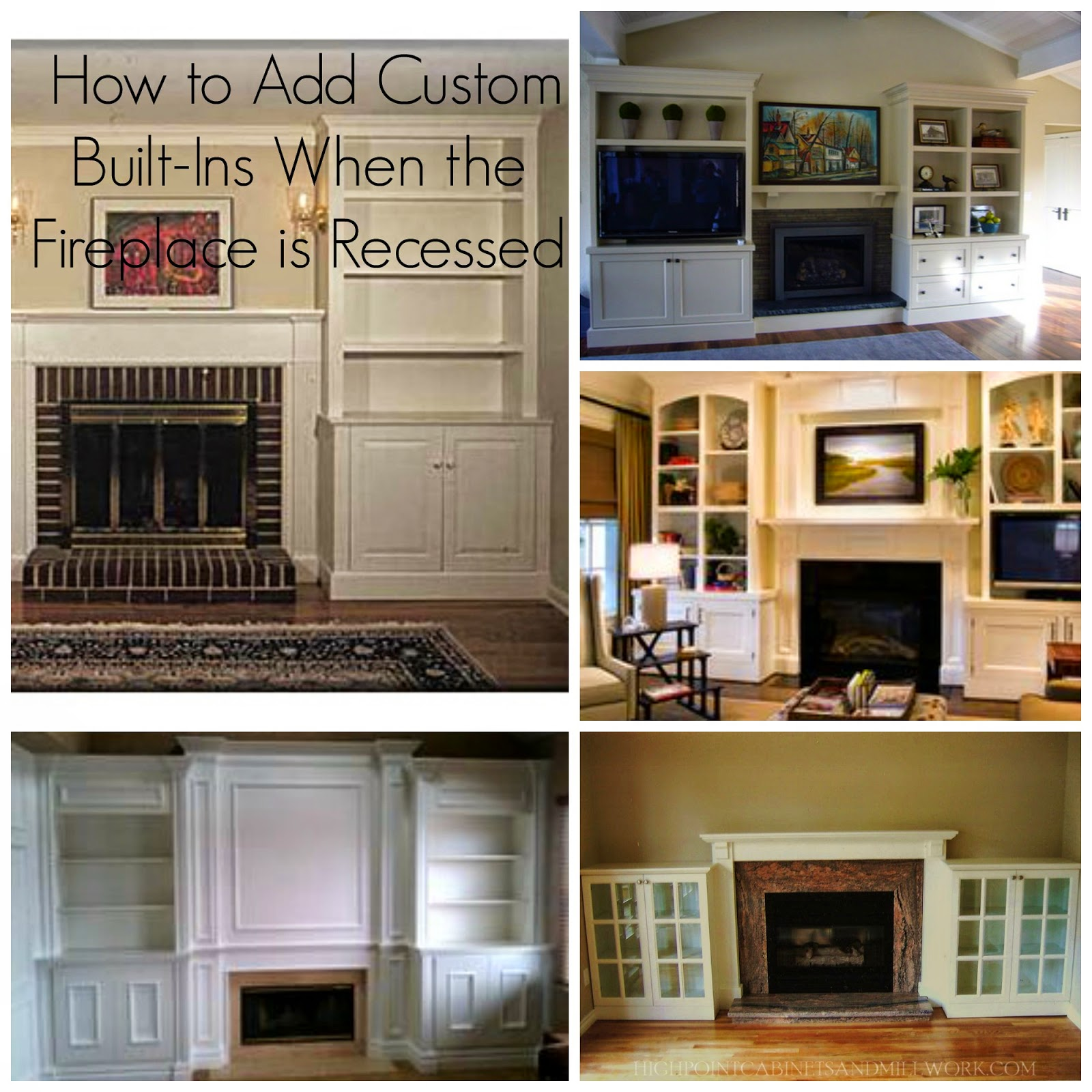 adding custom cabinetry with an existing fireplace surround - How To Make Custom Built In Bookshelves