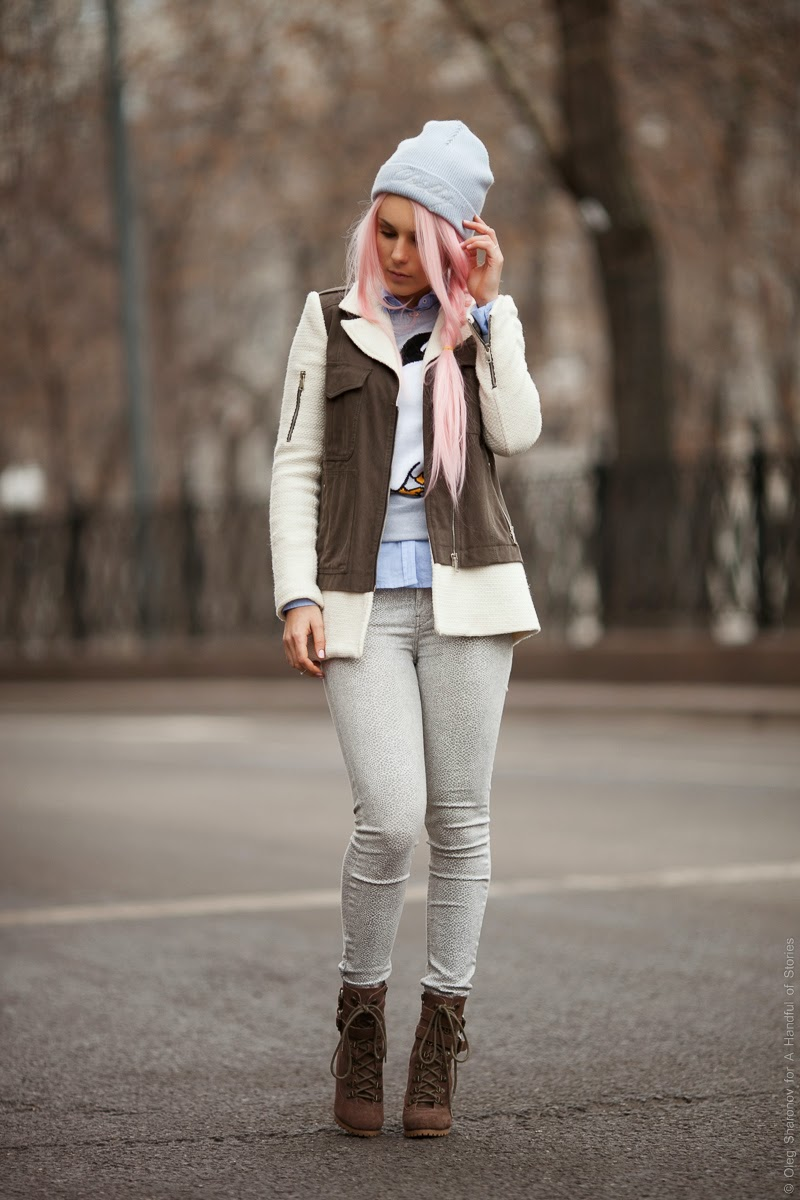 how to wear pastels for winter
