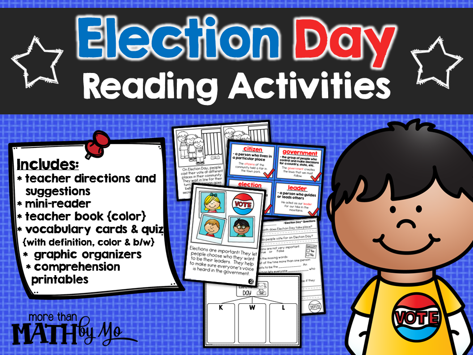 more than math by mo election day reading activities. Black Bedroom Furniture Sets. Home Design Ideas