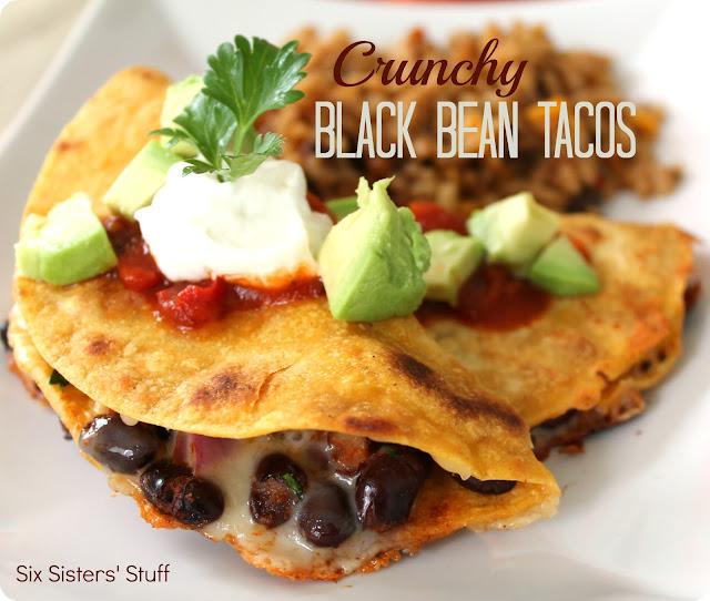 Crunchy Black Bean Tacos | Six Sisters Stuff