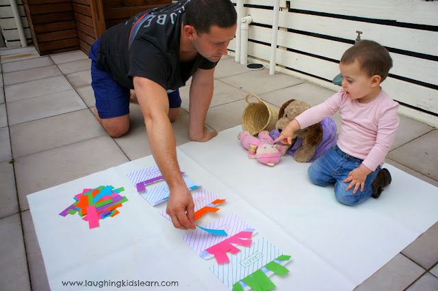 simple problem solving activities for kids using envelopes sorting colours colors
