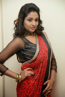 Actress Amitha Rao Pictures in Saree at Chandamama Kathalu Movie Press Meet 0046