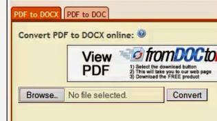 cara mudah ubah pdf ke word docx atau doc