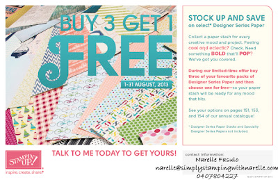 Designer Series Paper Promotion - Buy 3 get 1 FREE