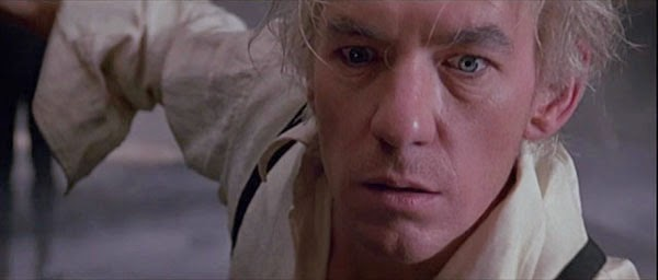 Ian McKellan plays Dr. Cuza in Michael Mann's The Keep.
