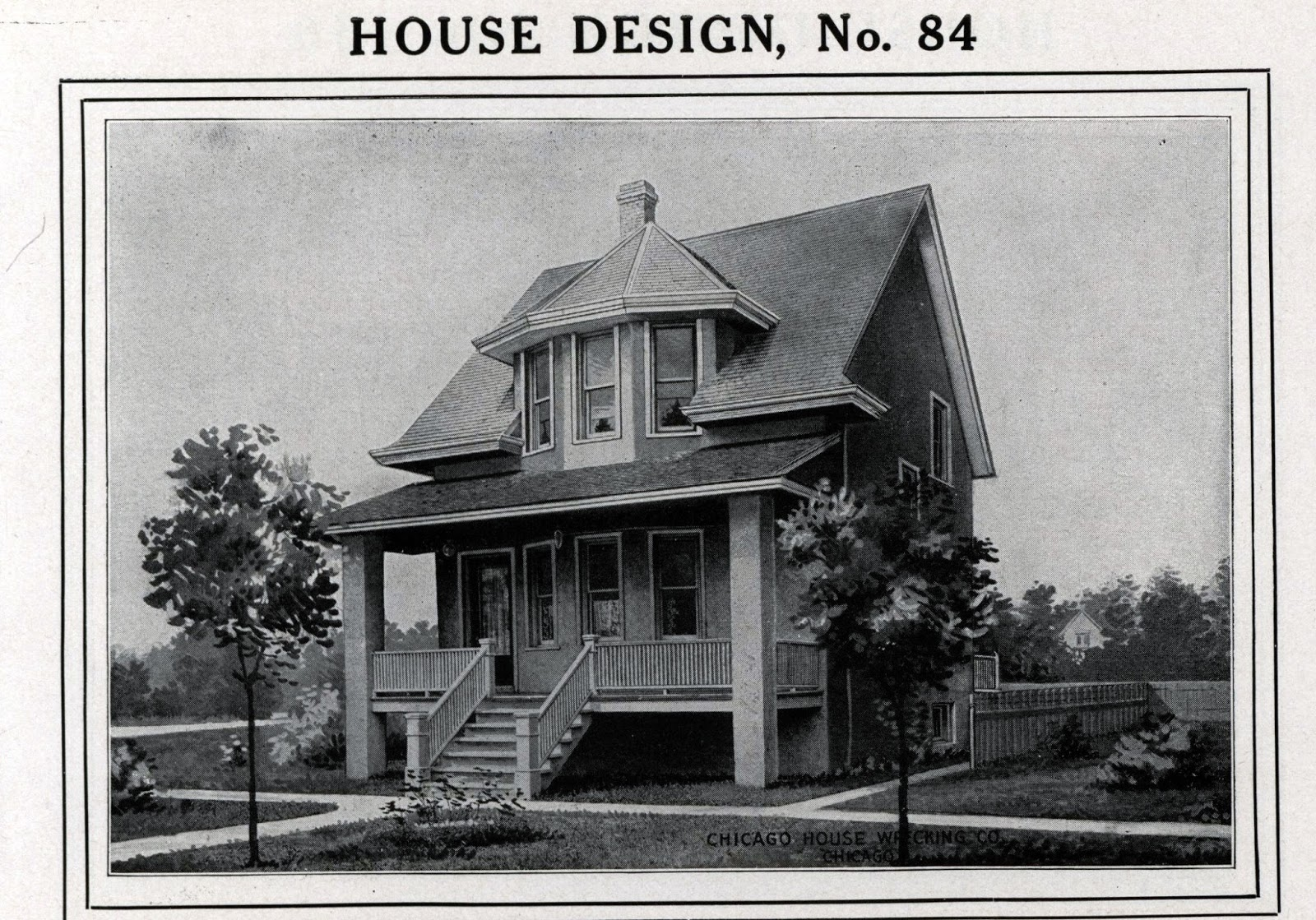 Dueling kit houses in maywood for Styles of homes built in 1900