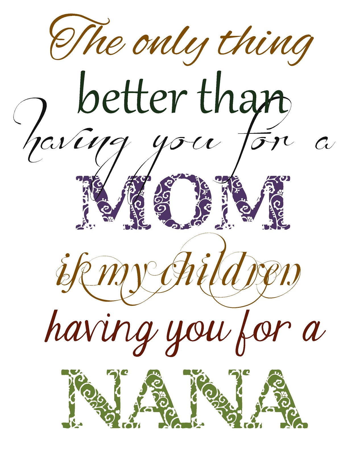I Love You Nana Quotes : Quotes About Being A Nana. QuotesGram