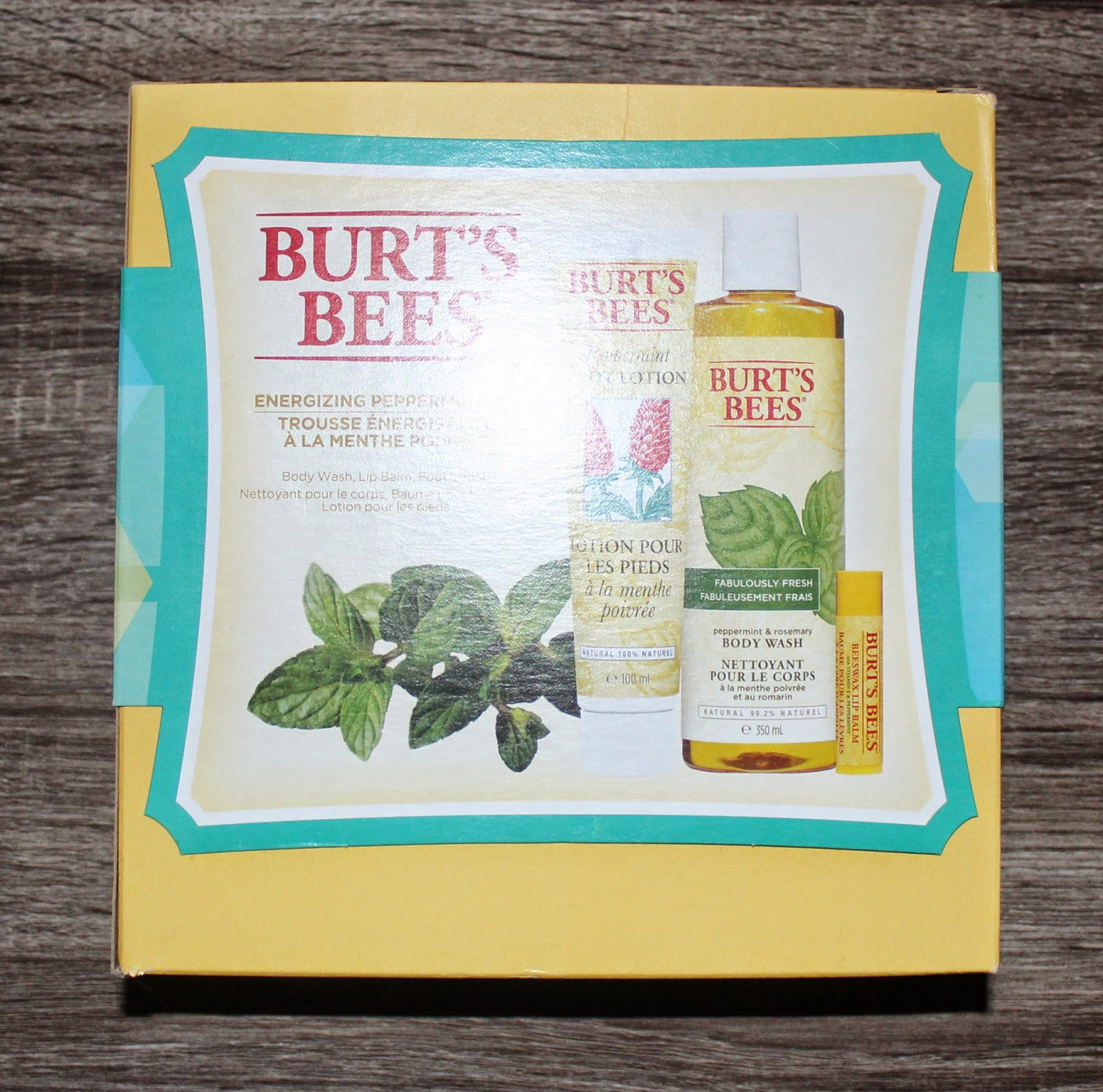 Burt's Bees Energizing Peppermint Kit