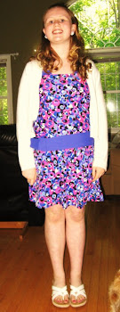 Tally wearing her 'Blue Circle' Dress