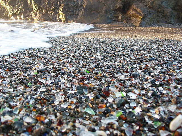 happened to what has come to be known as glass beach just outside fort ...