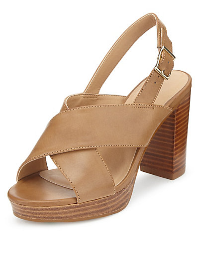 Marks and Spencer Crossover Platform Sandals With Insolia