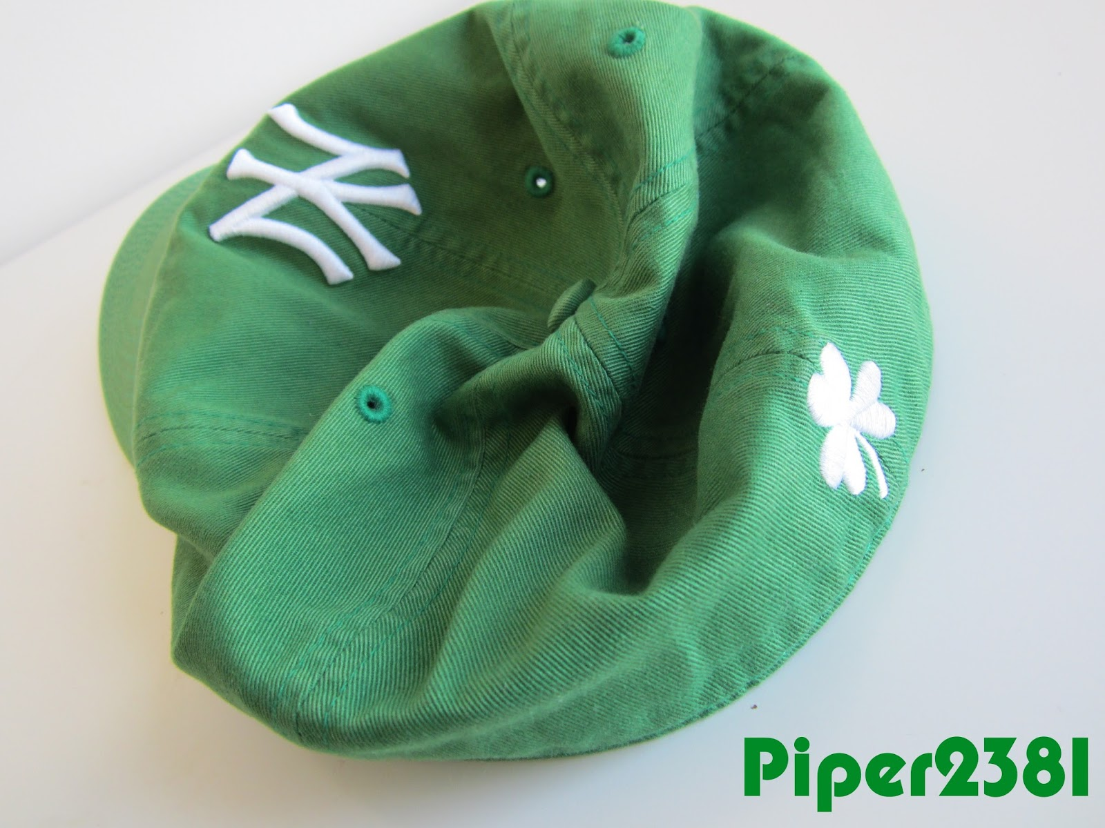 Piper2381  St. Patrick s Day Kelly Green Yankees Hat 2c21254de58