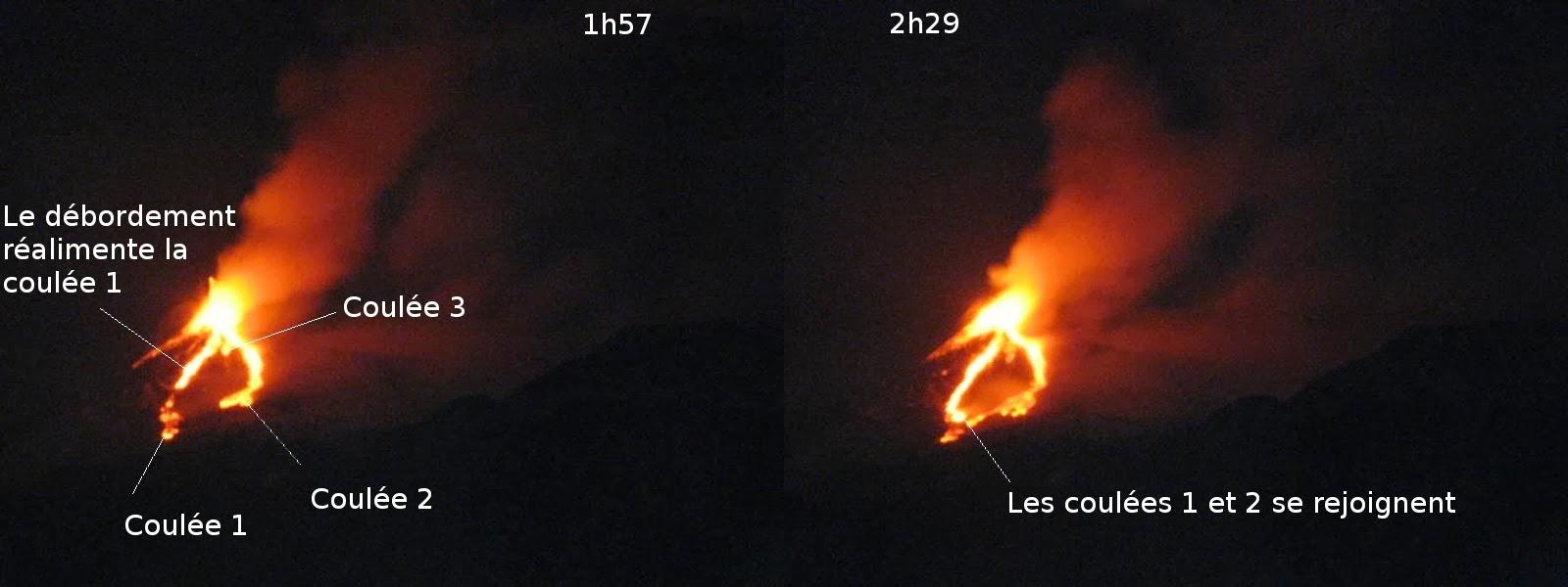 Coulées du 21eme paroxysme du volcan Etna, étape 3