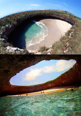 Hidden beach on the Marietas Islands