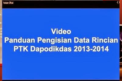Video panduan pengisian data rincian PTK, peserta didik, dan sekolah.