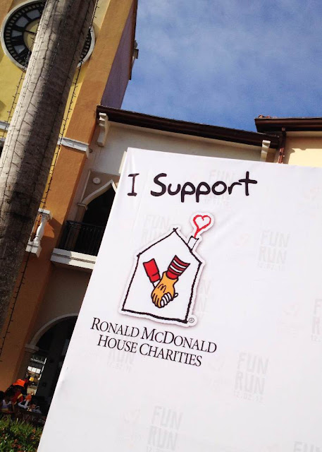 I support Ronald McDonald House Charities tarpaulin