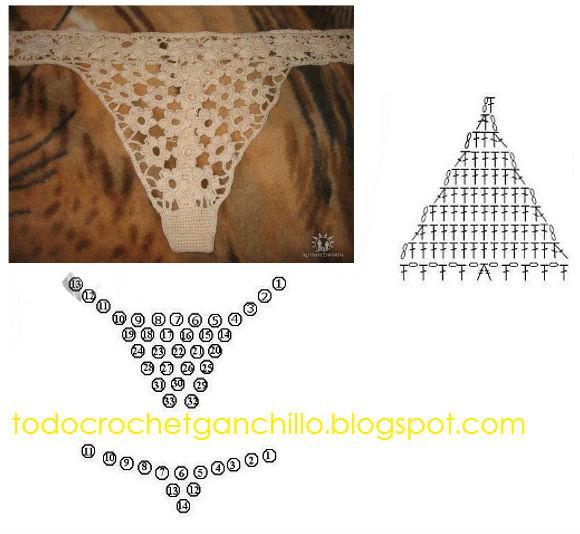 Encantador Patrón Del Bikini De Ganchillo Gratis Elaboración ...