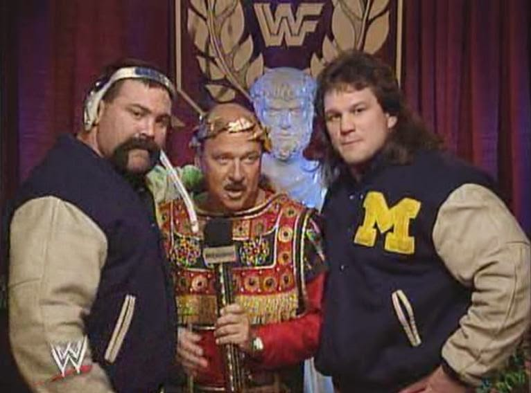 WWE / WWF WRESTLEMANIA 9: The Steiner Brothers speak to Mean Gene before facing The Headshrinkers