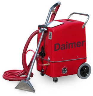 machine for cleaning carpets