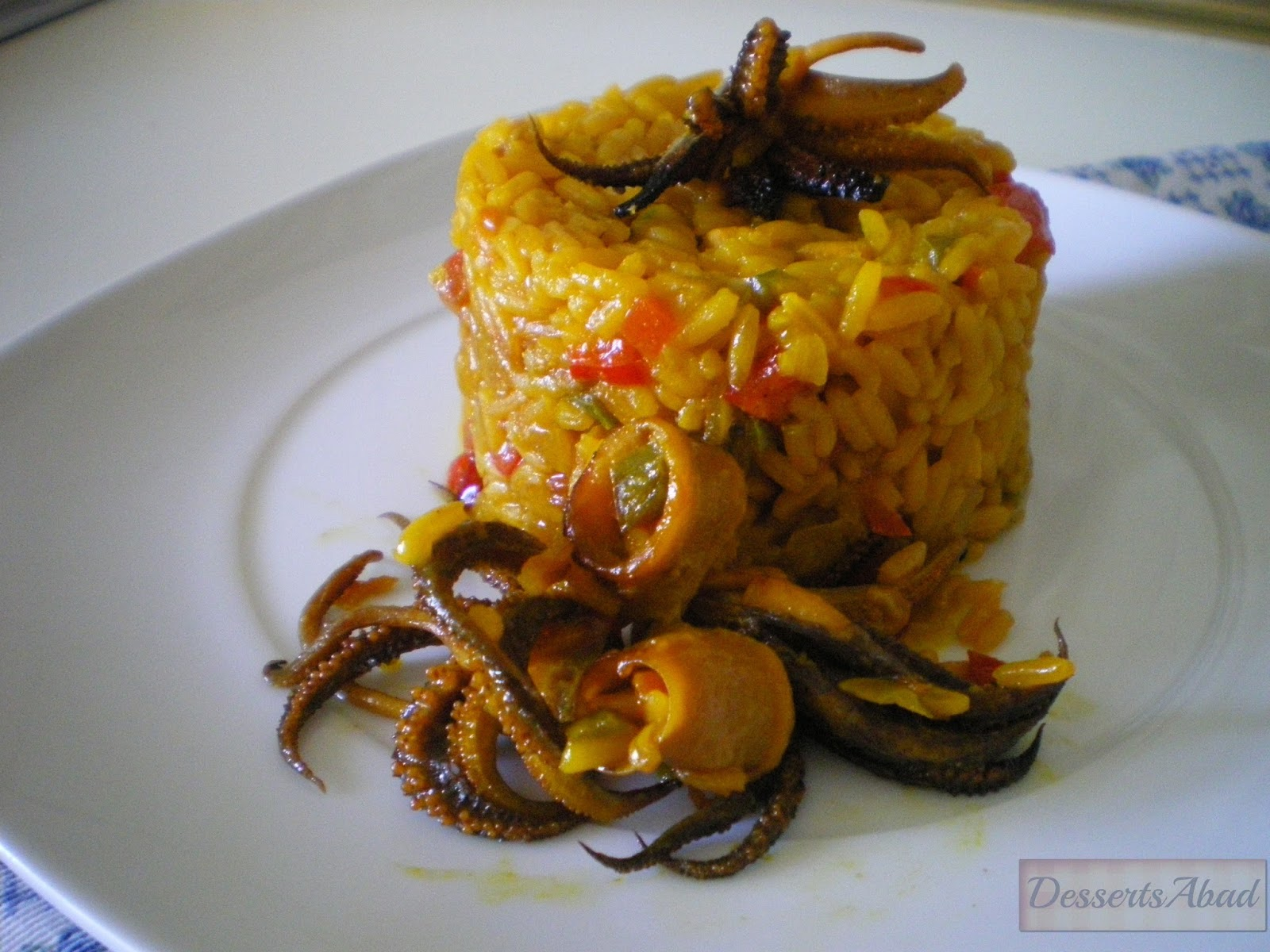 Dessertsabad arroz con calamares for Cocinar 7 mares