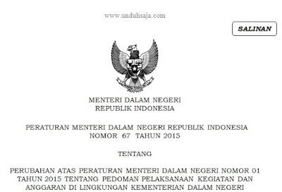 Permendagri 67 Tahun 2015