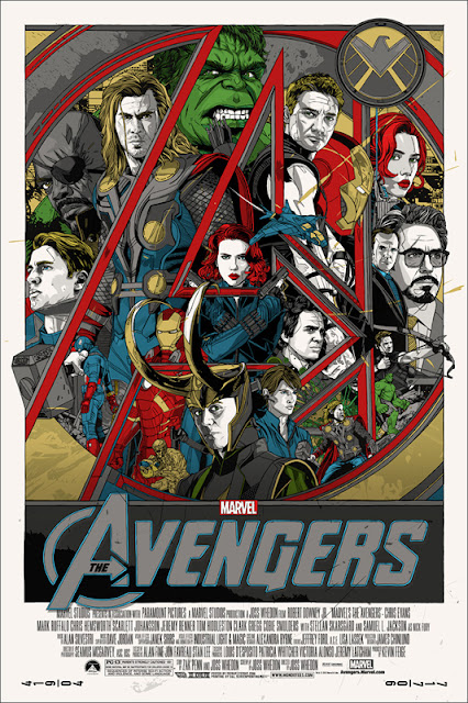 Mondo - The Avengers Movie Standard Edition Screen Print by Tyler Stout