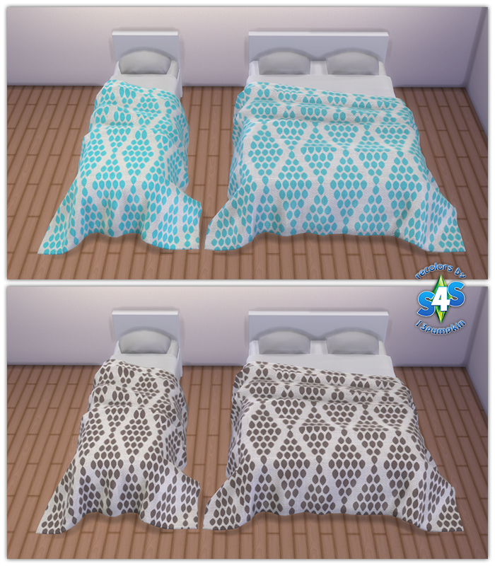 My Sims 4 Blog Pilar S Natural Bedding Recolors By