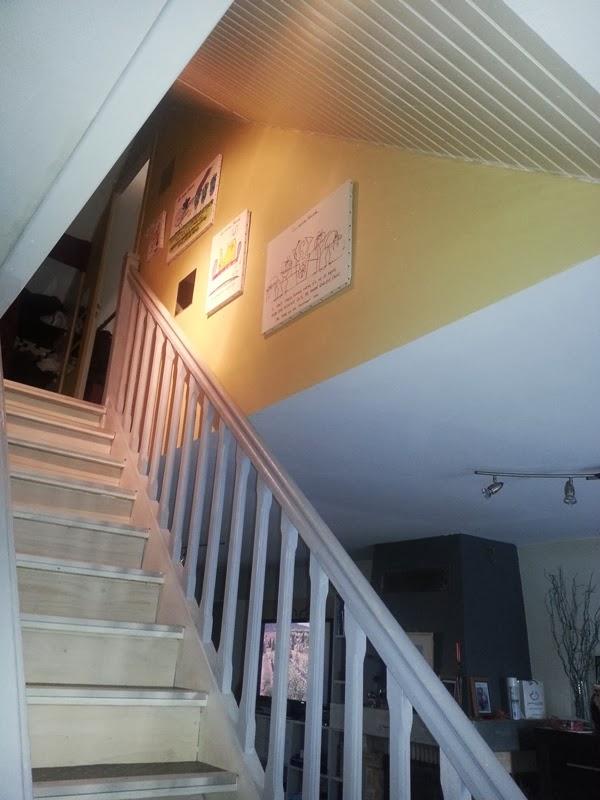Repeindre escalier bois foncé vitrifié  Cours de