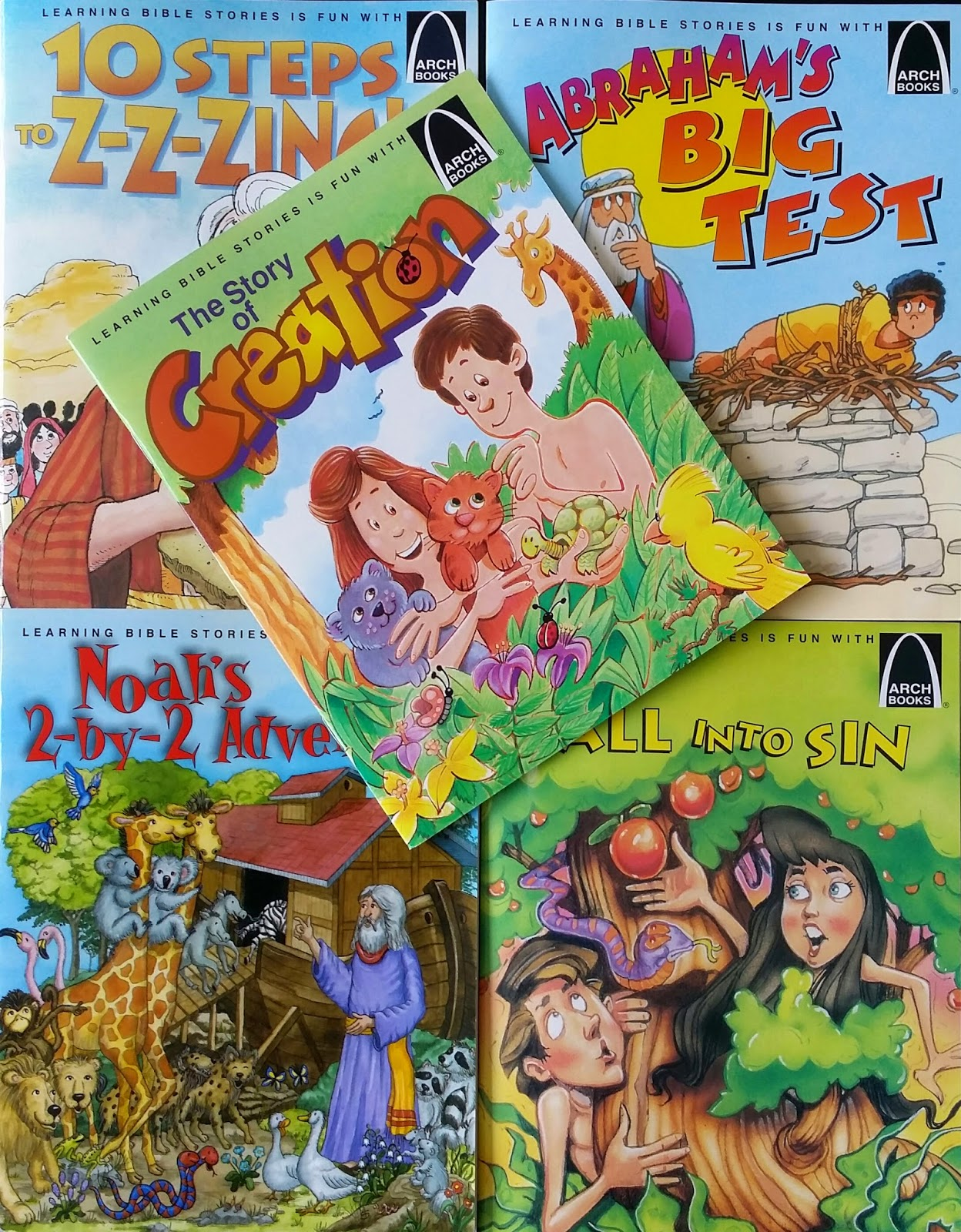 giveaway arch books bible story series
