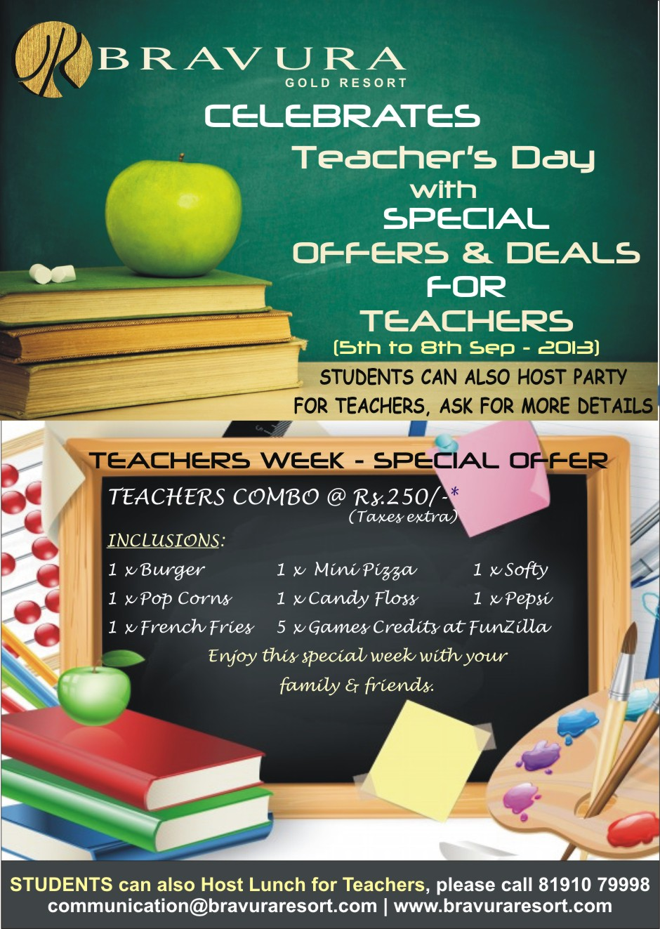 Bravura Gold Resort 5 Star Luxury Hotel And Resorts Teachers Day Teachherpleaseblogspotcom In This Celebration We Are Offering Many Special Offers Deals For More Information Please Call Us On 91 8191079998 Or Email At