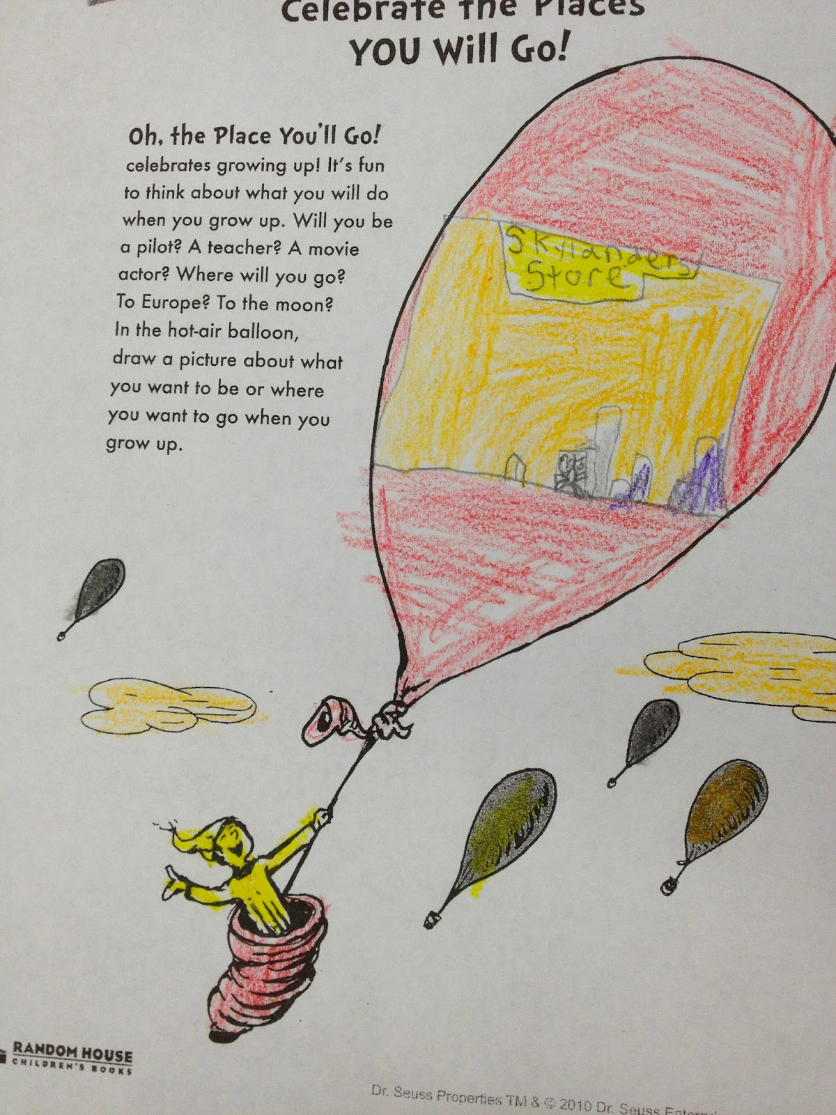 Ms Sepps Counselor Corner Oh The Places Youll Go in 1st Grade – Oh the Places You Ll Go Worksheets