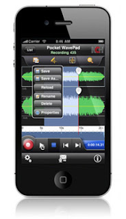 high quality audio editing pocket wavepad iphone app