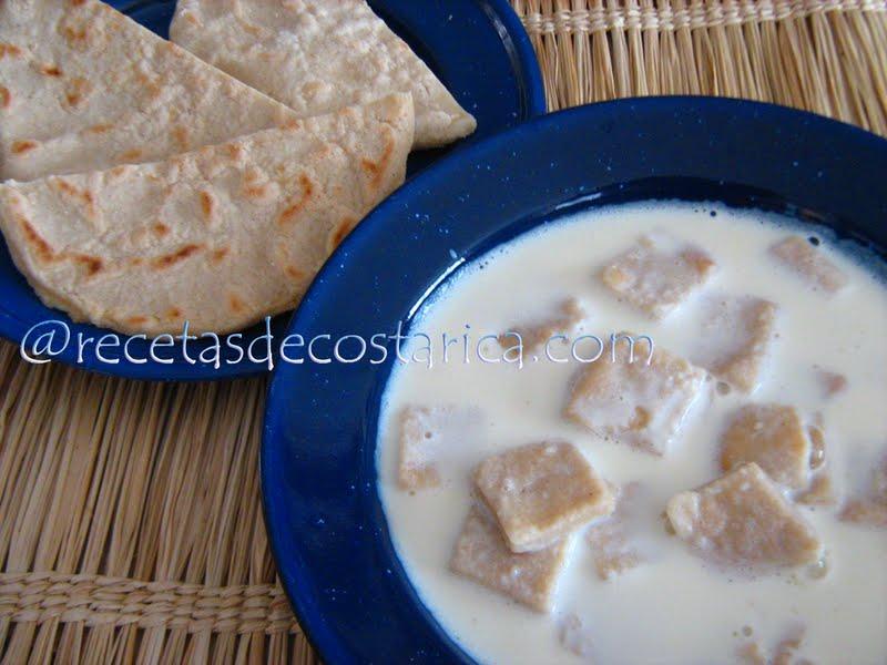 Cocina Costarricense Sopa De Leche Y Tortilla