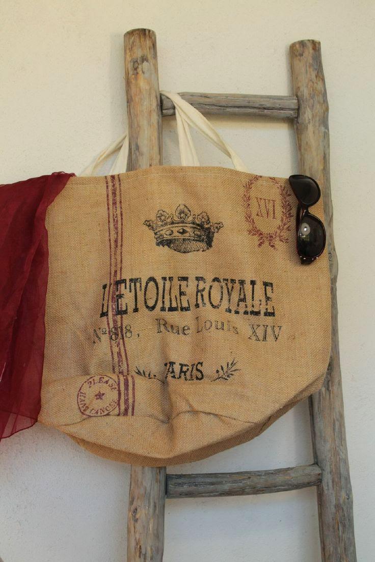Jute tas 'L'Etoile Royale'