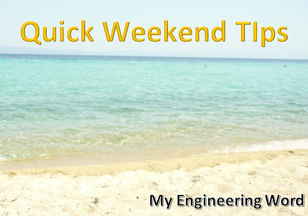 Quick Weekend Tips