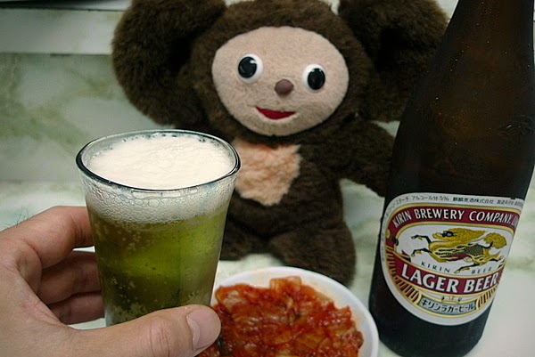 新福菜館三条店 ビールとキムチ