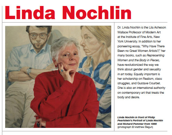 a feminist view on why have there been no great women artists an essay by linda nochlin Feminist interventions in 3 linda nochlin, why have there been potenno the question »why are there no great women artists« simply would not be answered to.