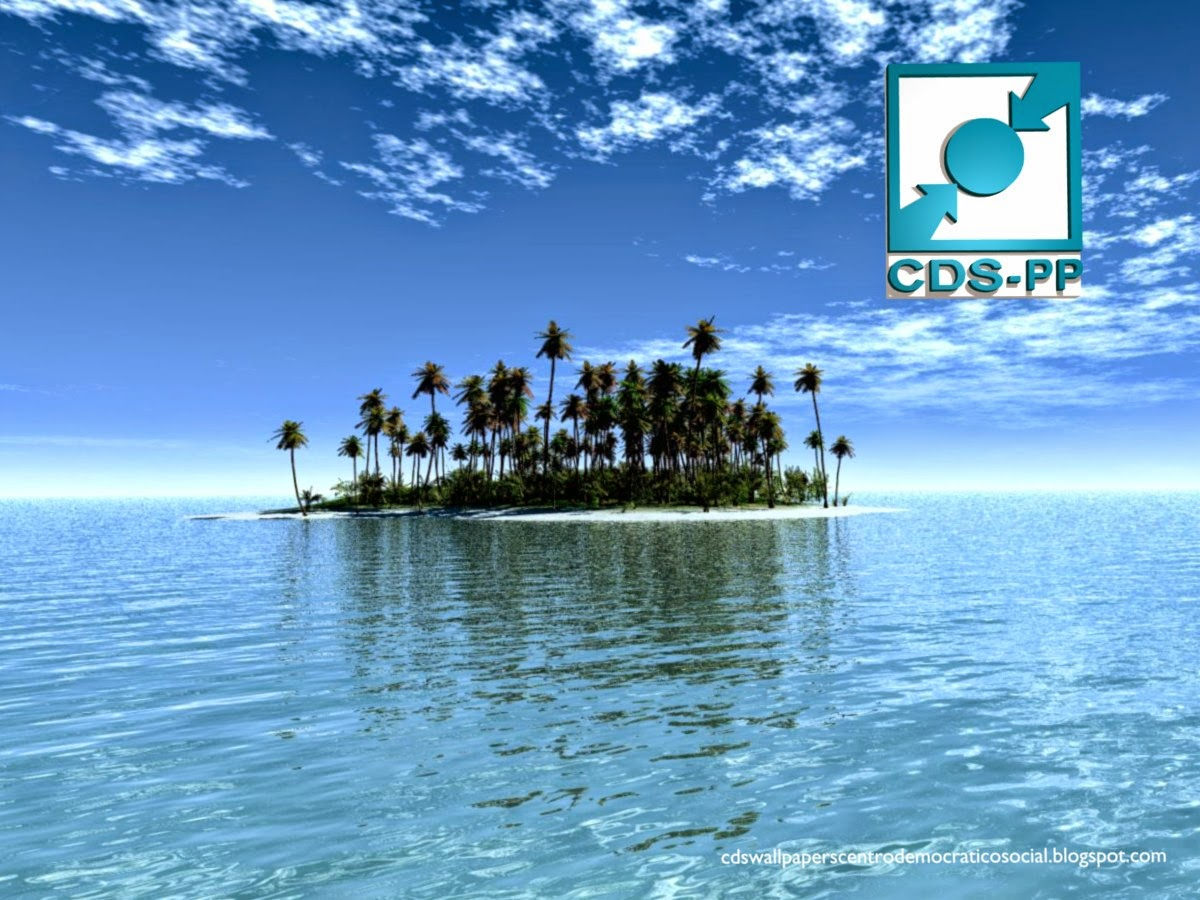 Wallpaper do Partido Centro Democrático Social emblema Frontal do CDS-PP para utilizar como fundo de tela do seu ambiente de trabalho