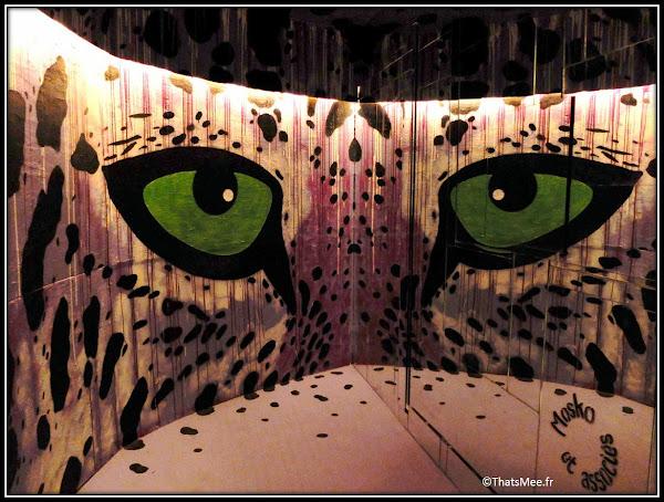 Tour Paris 13 street art Molko eye of the tiger miroir tigre