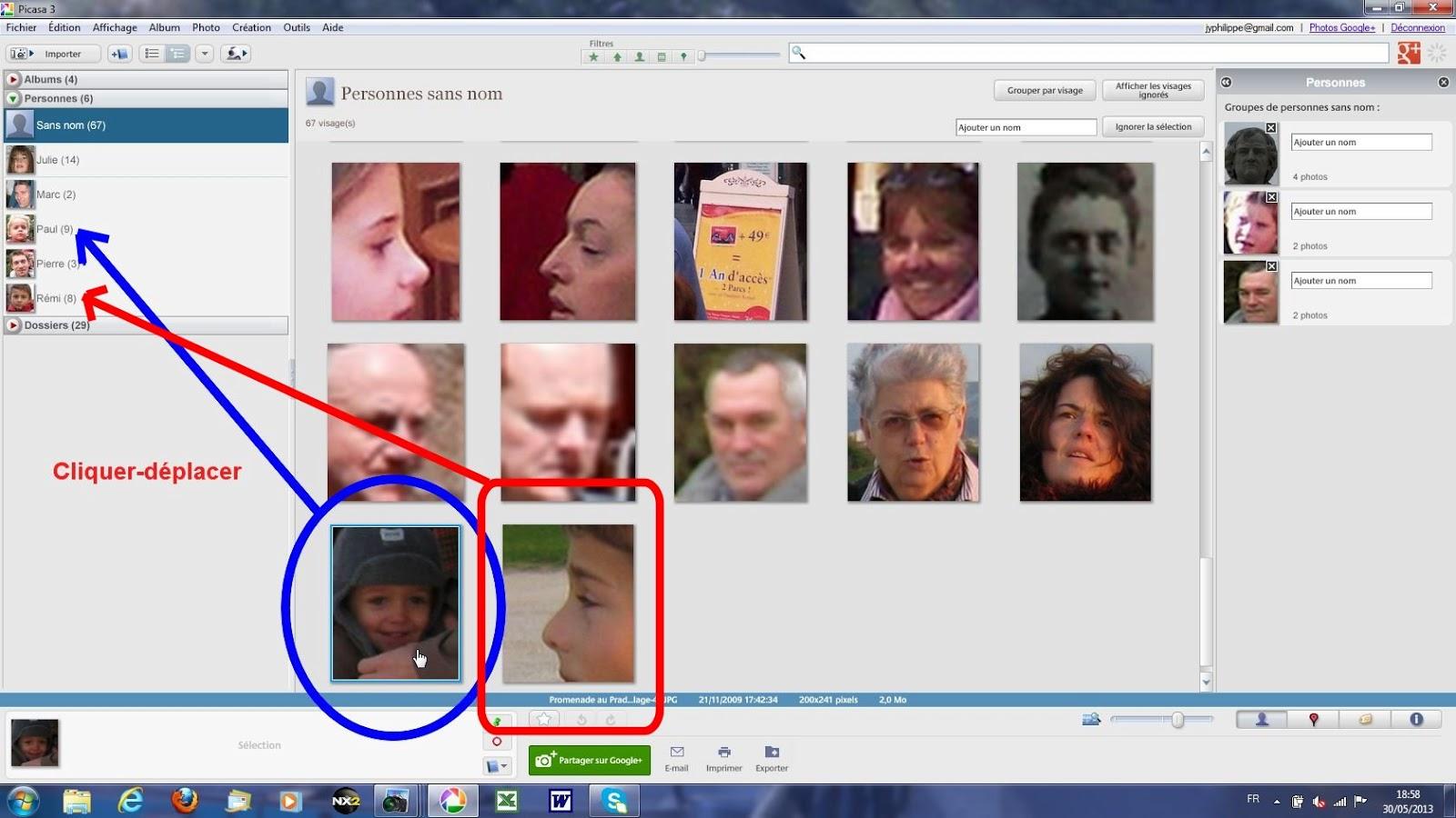 Reconnaissance des traits du visage