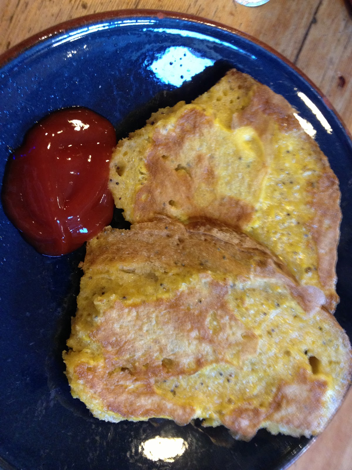 Eggy Bread And Ketchup
