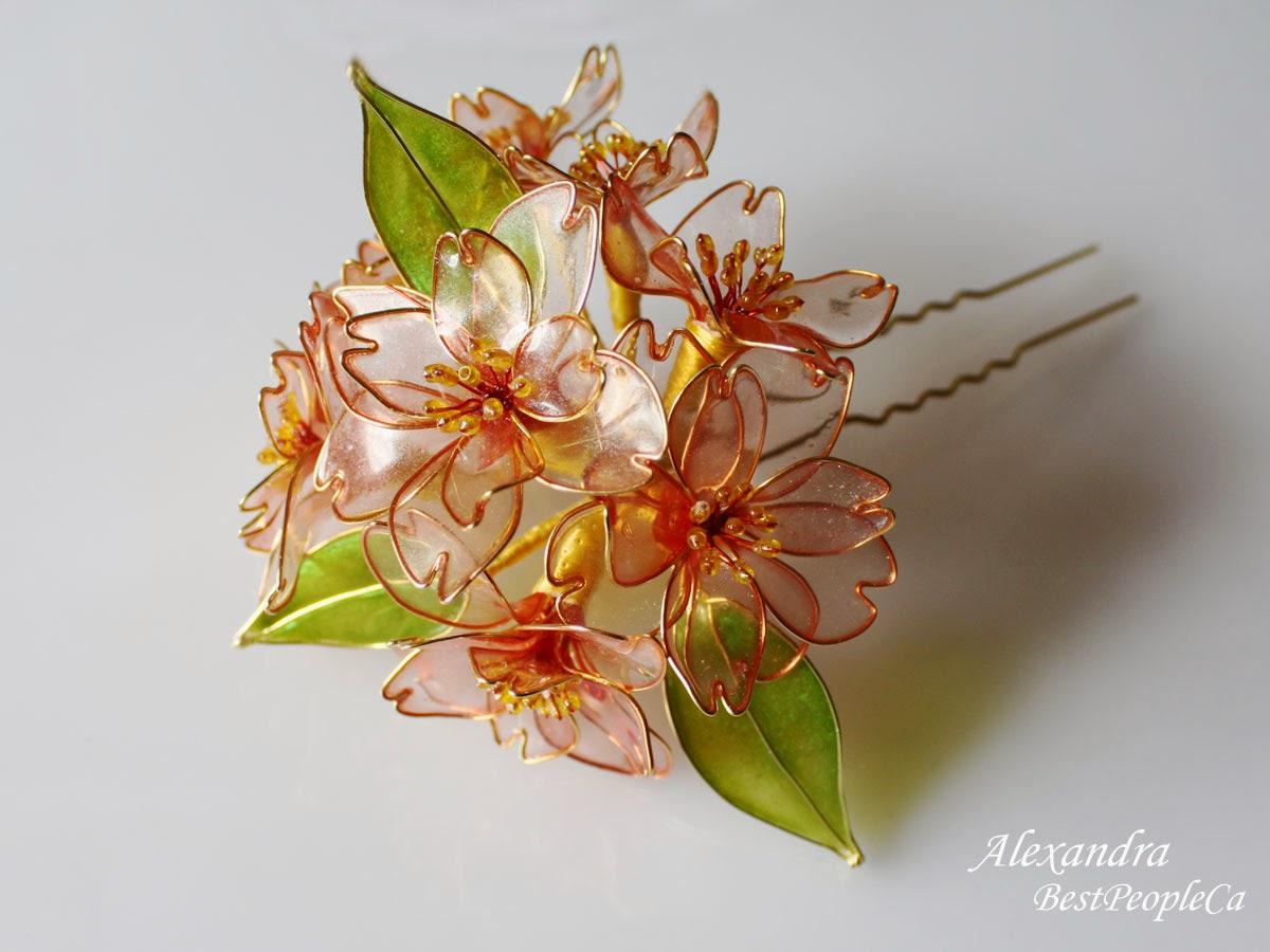 Hair Pin Cherry Blossom