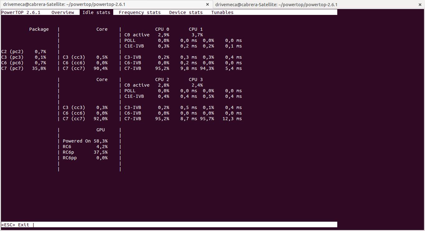 DriveMeca instalando PowerTOP en Linux Ubuntu