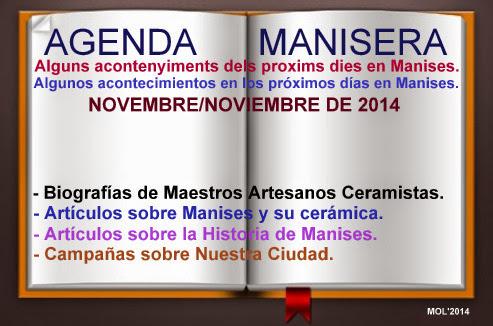 AGENDA MANISERA SEMANA 46 DE 2014