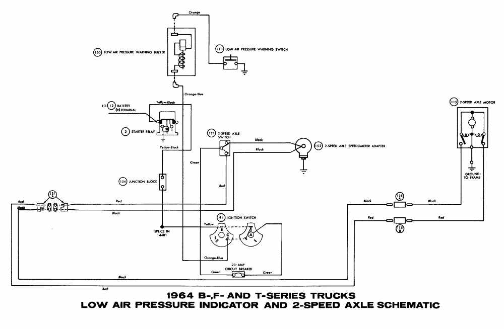 ford b f t series trucks 1964 low air pressure indicator and 2 ford b f t series trucks 1964 low air pressure indicator and 2 speed axle schematic diagram