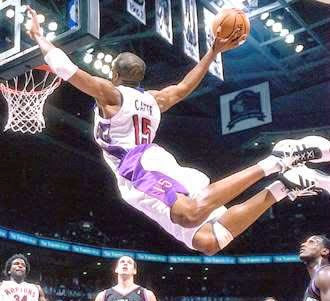 Vince Carter Warm Up Dunks