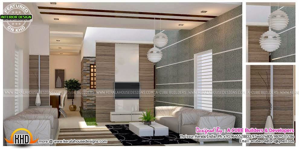 Living Room Interior Design In Kerala living room interior design in kerala : kerala home design | siddu